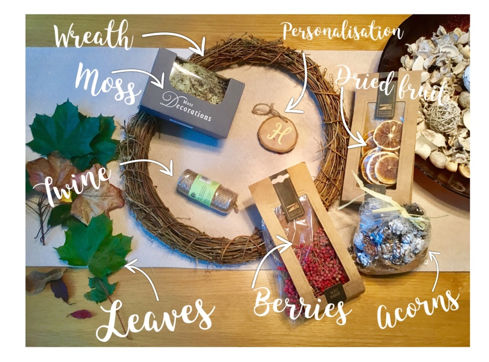 DIY autumn wreath what you need