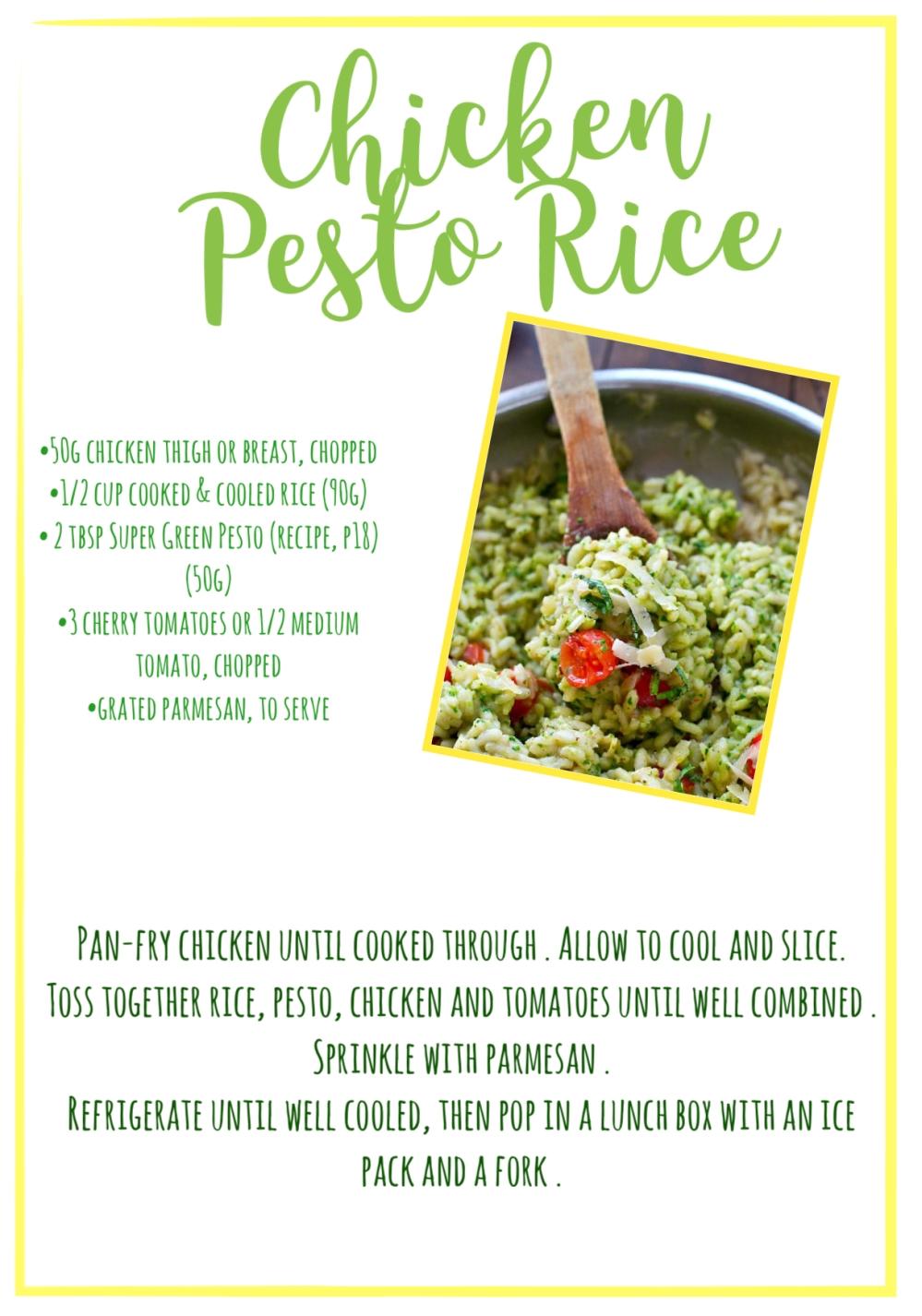 Chicken pesto rice