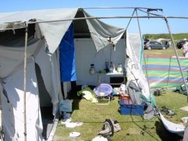 The remain of 2009's tent